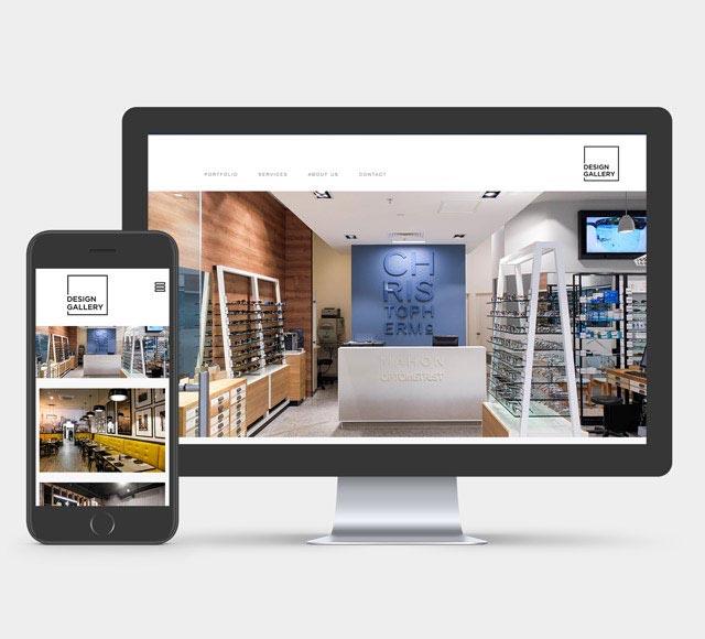 design gallery website sample
