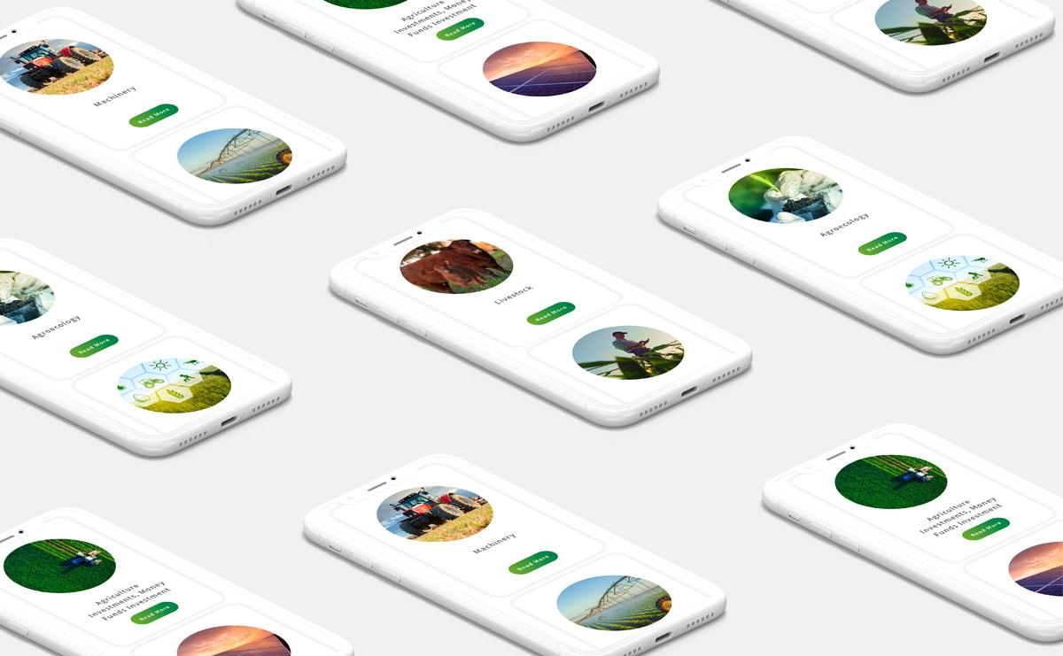 web design portfolio image agrilinx mobile design