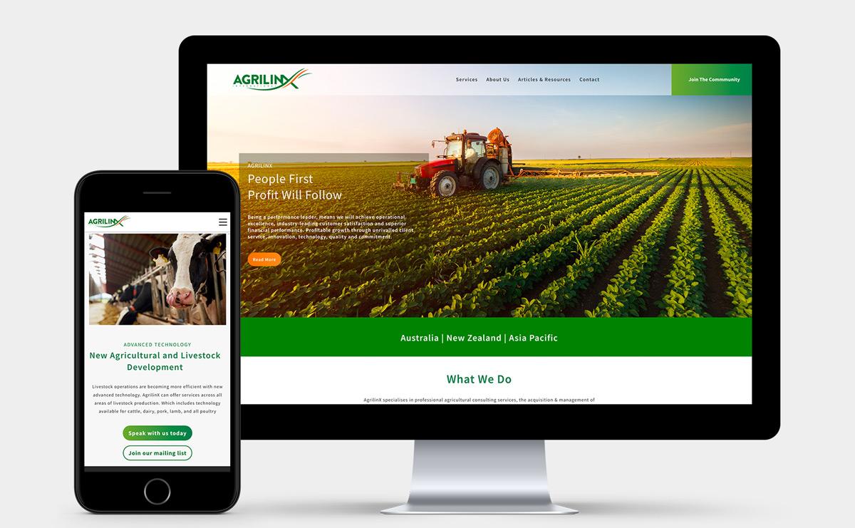 website design portfolio image for agrilinx