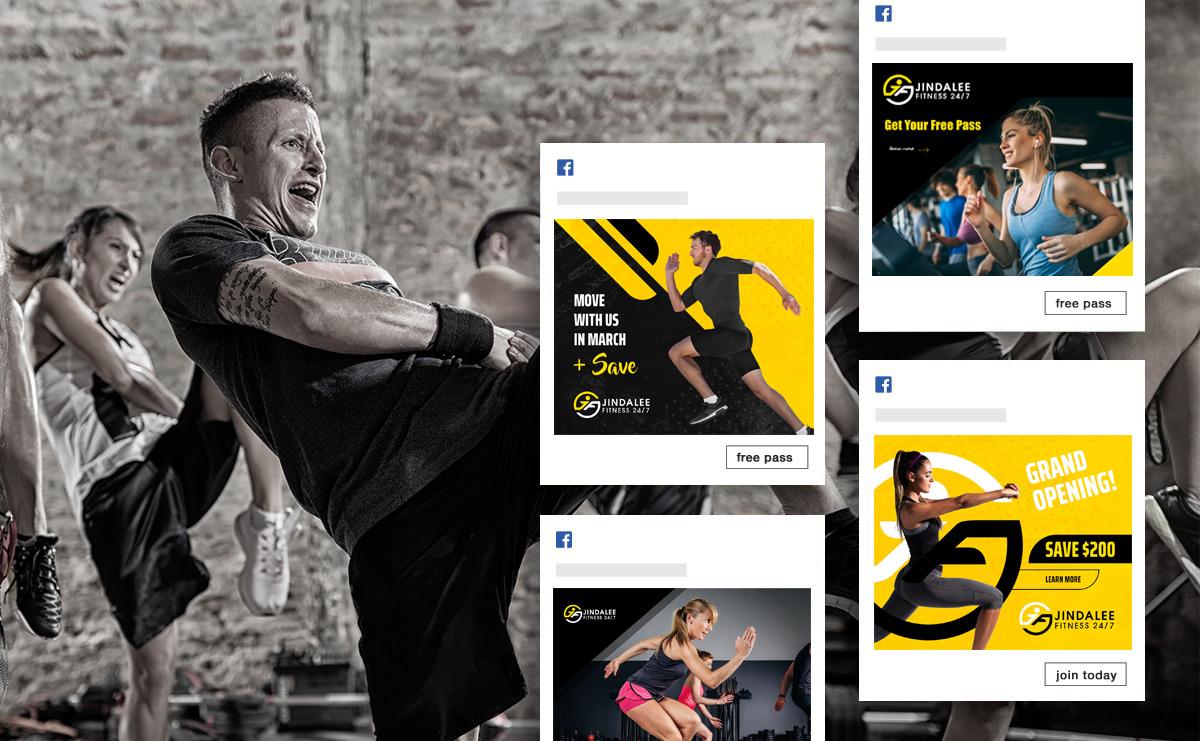 web design portfolio image for the jindalee gym website built by kmo